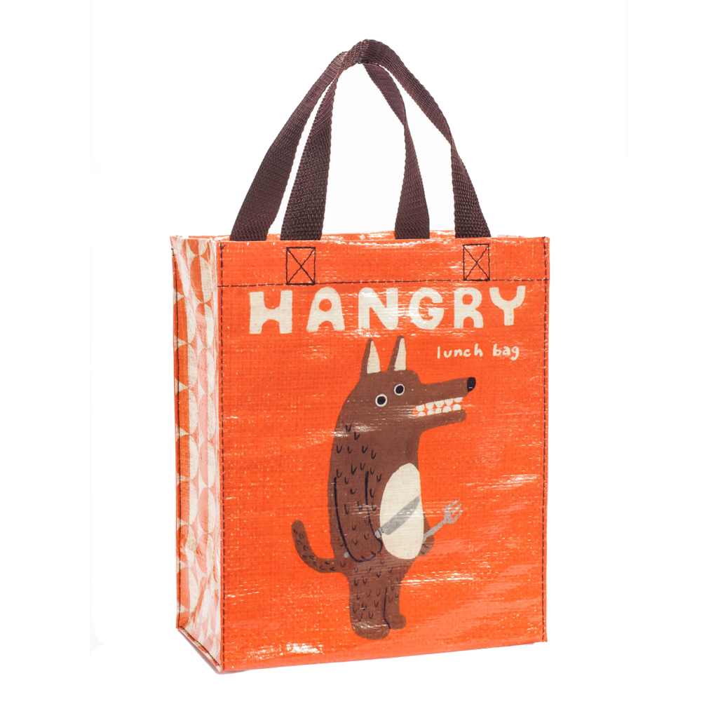 Hangry Lunch Bag Handy Tote Blue Q Lunch Boxes & Totes