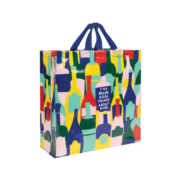 Good Things About Wine Shopper Blue Q Reusable Tote Bags