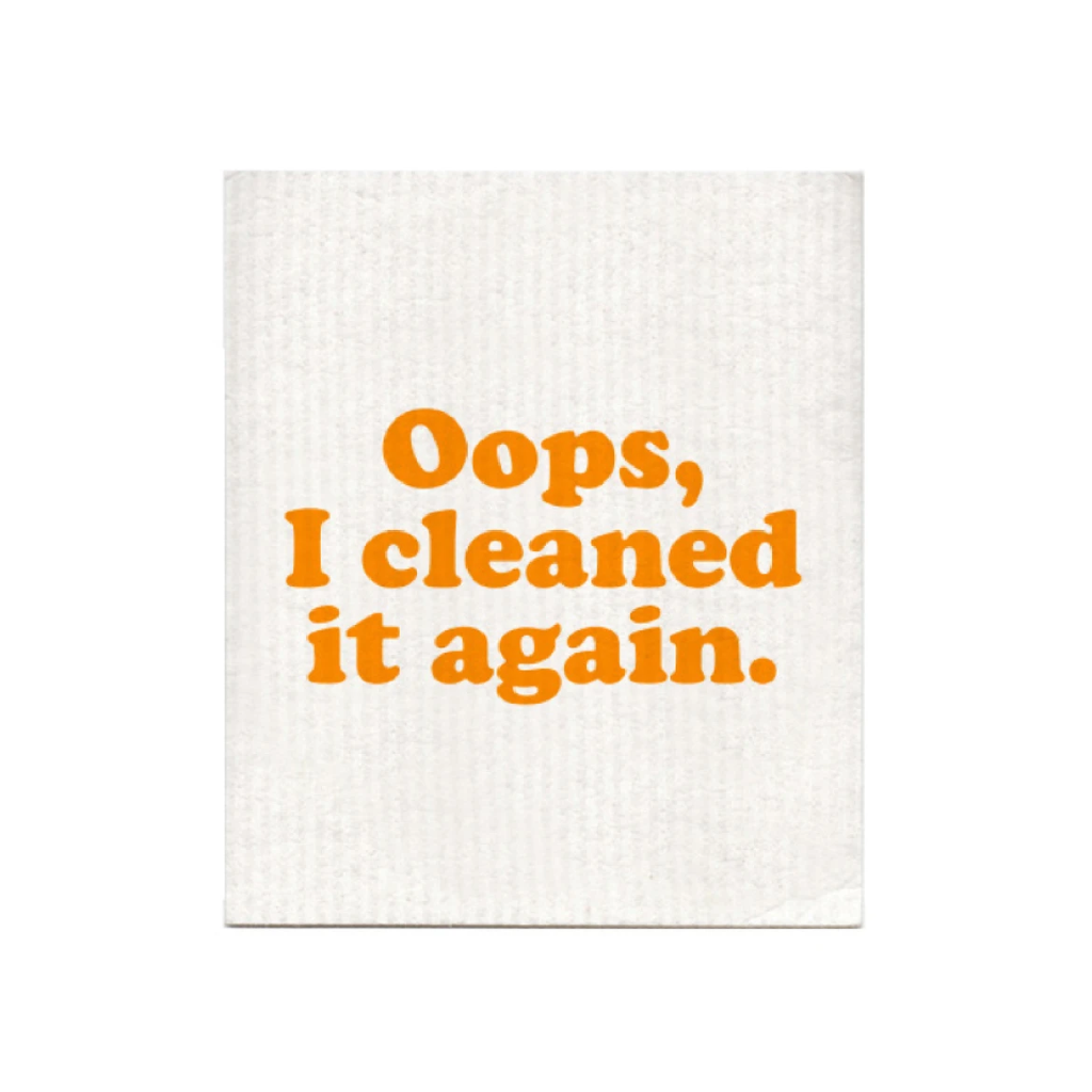 Oops I Cleaned It Again Dishcloth BOLDFACED GOODS Home - Kitchen - Kitchen & Dish Towels
