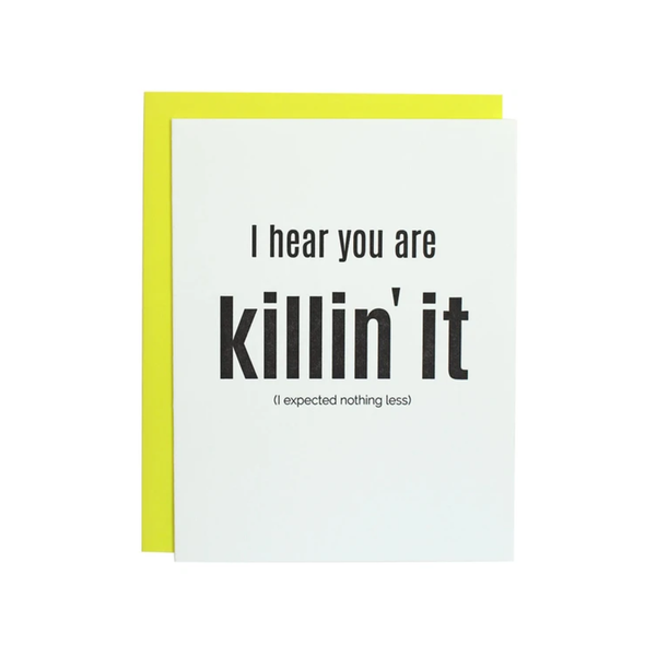 CHZ CARD BLANK KILLIN' IT Chez Gagne Card - Blank