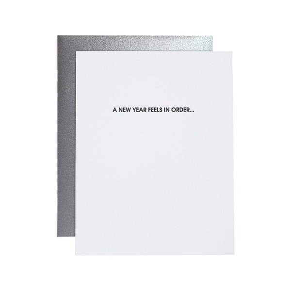 A New Year Feels In Order Card Chez Gagne Cards - Blank