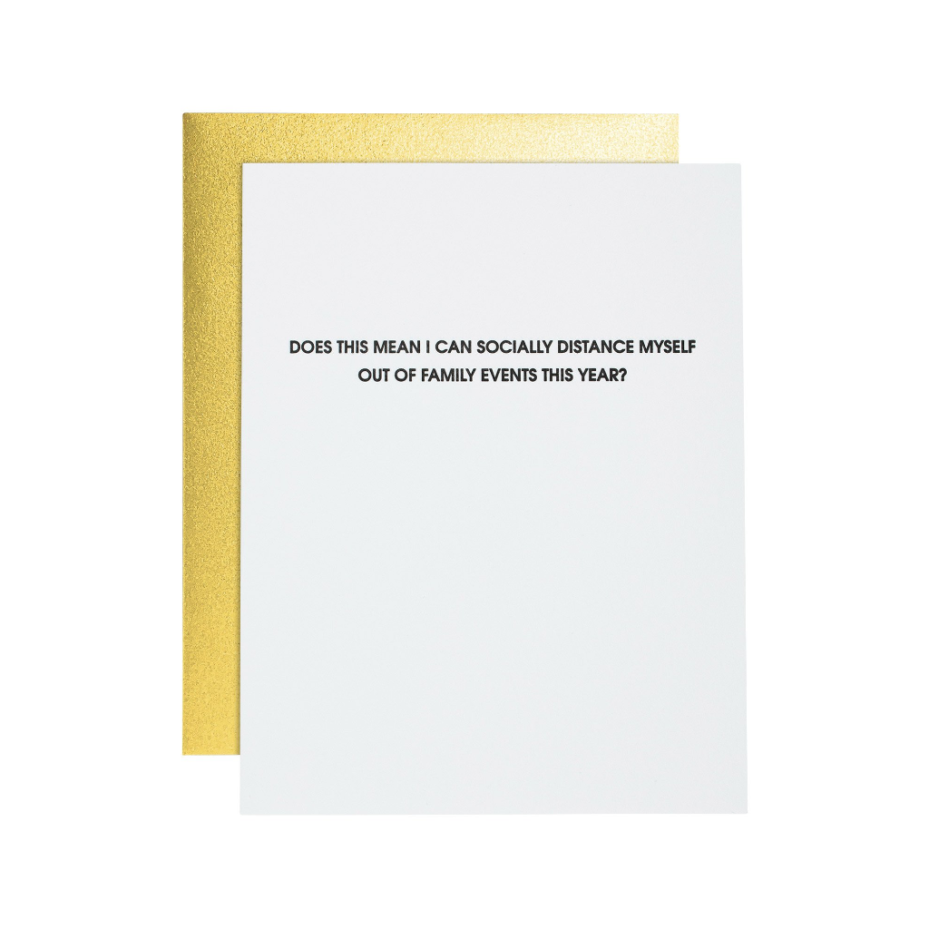 Socially Distance From Family Events Card Chez Gagne Cards - Blank
