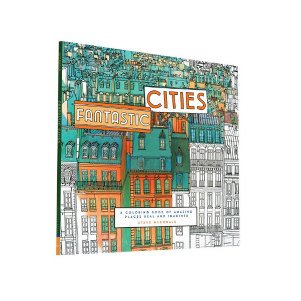 Fantastic Cities Coloring Book Chronicle Books Books - Coloring