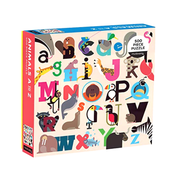 Animals A-Z Puzzle Chronicle Books Puzzles & Games