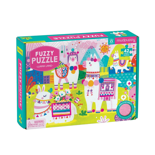 Llama Land Fuzzy Puzzle Chronicle Books Puzzles & Games