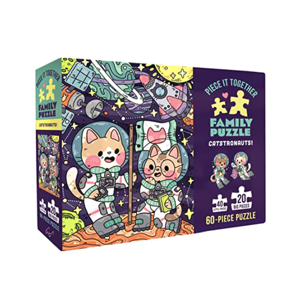 Piece It Together Family Puzzle: Catstronauts! Chronicle Books Puzzles & Games