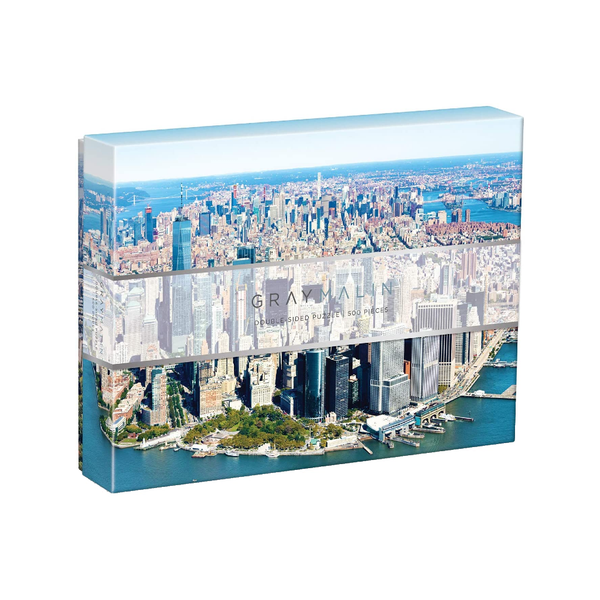 Galison Gray Malin New York City Double-Sided 500 Piece Jigsaw Puzzle Chronicle Books Toys & Games - Puzzles & Games