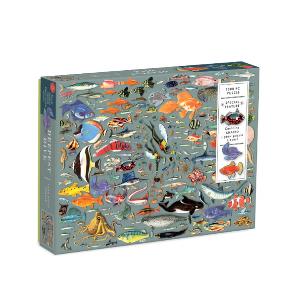 Deepest Dive 1000 Piece Jigsaw Puzzle Chronicle Books Toys & Games - Puzzles & Games - Jigsaw Puzzles