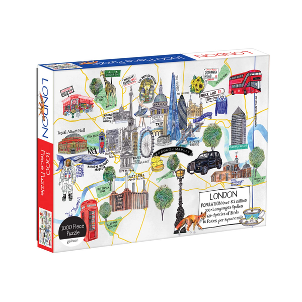 London Map 1000 Piece Jigsaw Puzzle Chronicle Books Toys & Games - Puzzles - Jigsaw Puzzles