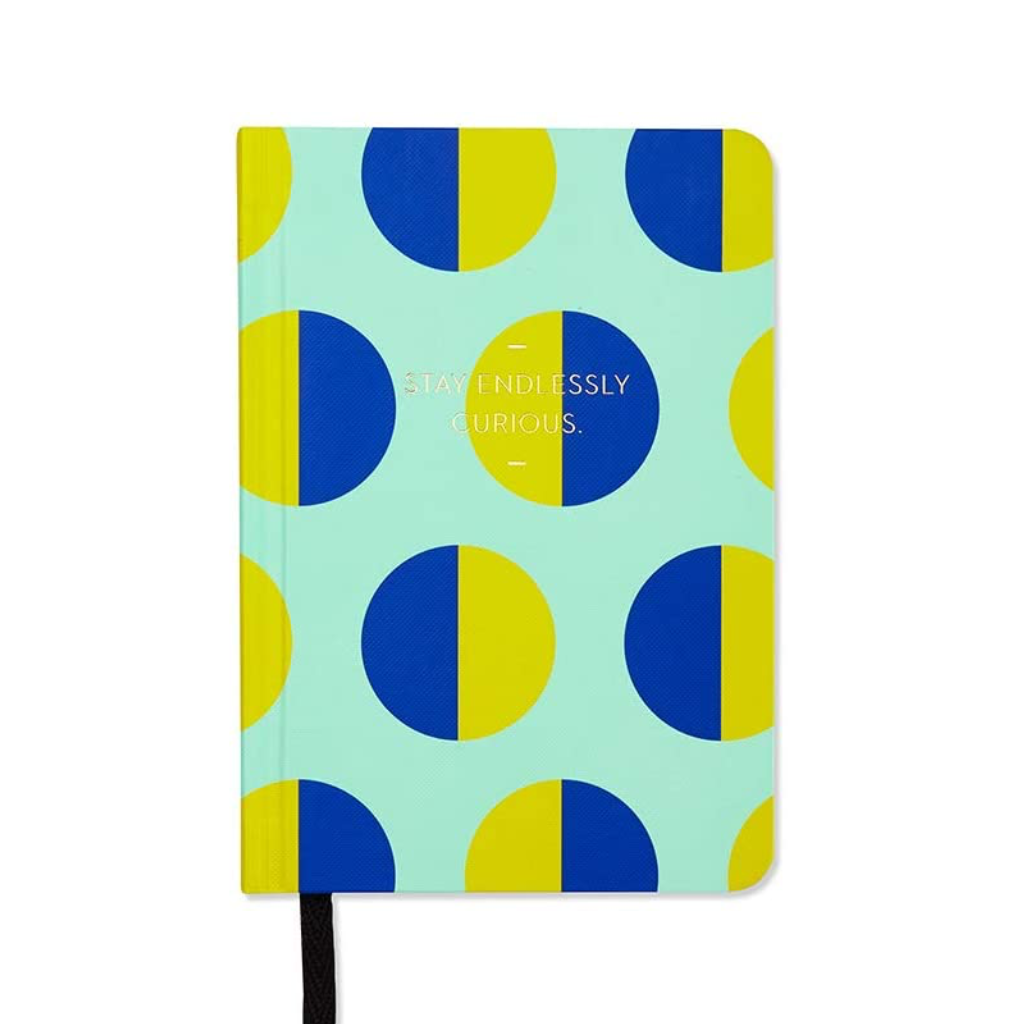 Stay Endlessly Curious Motto Blank Journal Compendium Books - Blank Notebooks & Journals