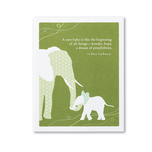A New Baby Is Like The Beginning Of All Things New Parent Card Compendium Cards - Baby