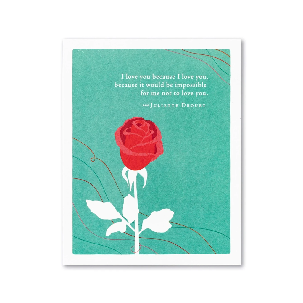 I Love You Because I Love You Valentine's Day Card Compendium Cards - Valentine's Day