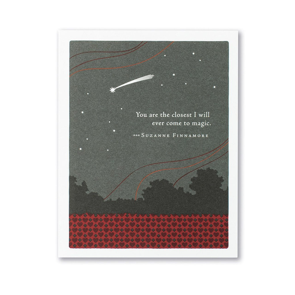 You Are The Closest I Will Ever Come To Magic Valentine's Day Card Compendium Cards - Valentine's Day
