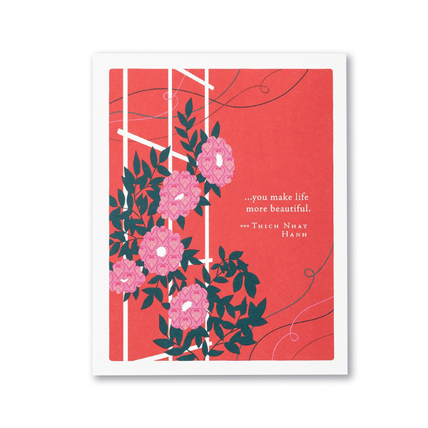 You Make Life More Beautiful Valentine's Day Card Compendium Cards - Valentine's Day