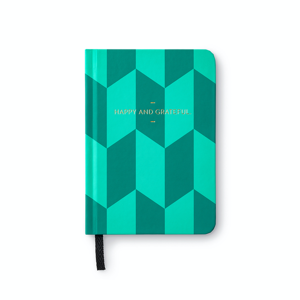 Happy and Grateful Motto Journal Compendium Inc. Books - Blank Notebooks & Journals