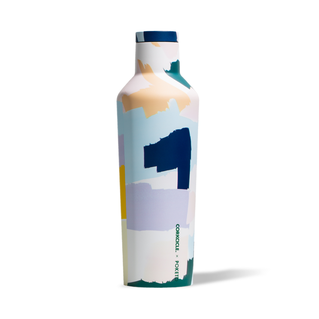 Corkcicle Canteen - Poketo White Brush Stroke Corkcicle Canteens
