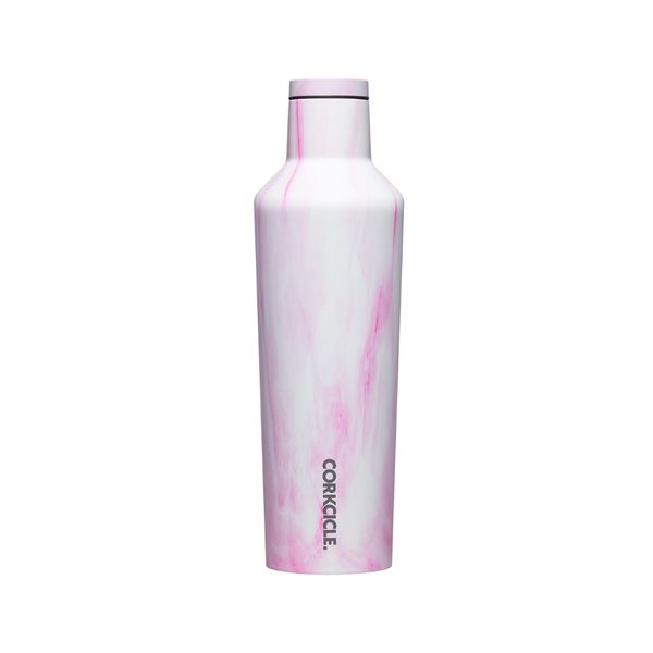 Corkcicle Canteen - Pink Marble - 16oz. Corkcicle Home - Mugs & Glasses - Reusable