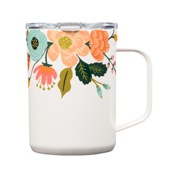 Corkcicle Mug - Rifle Paper Co. Lively Floral Cream - 16oz. Corkcicle Home - Mugs & Glasses - Reusable