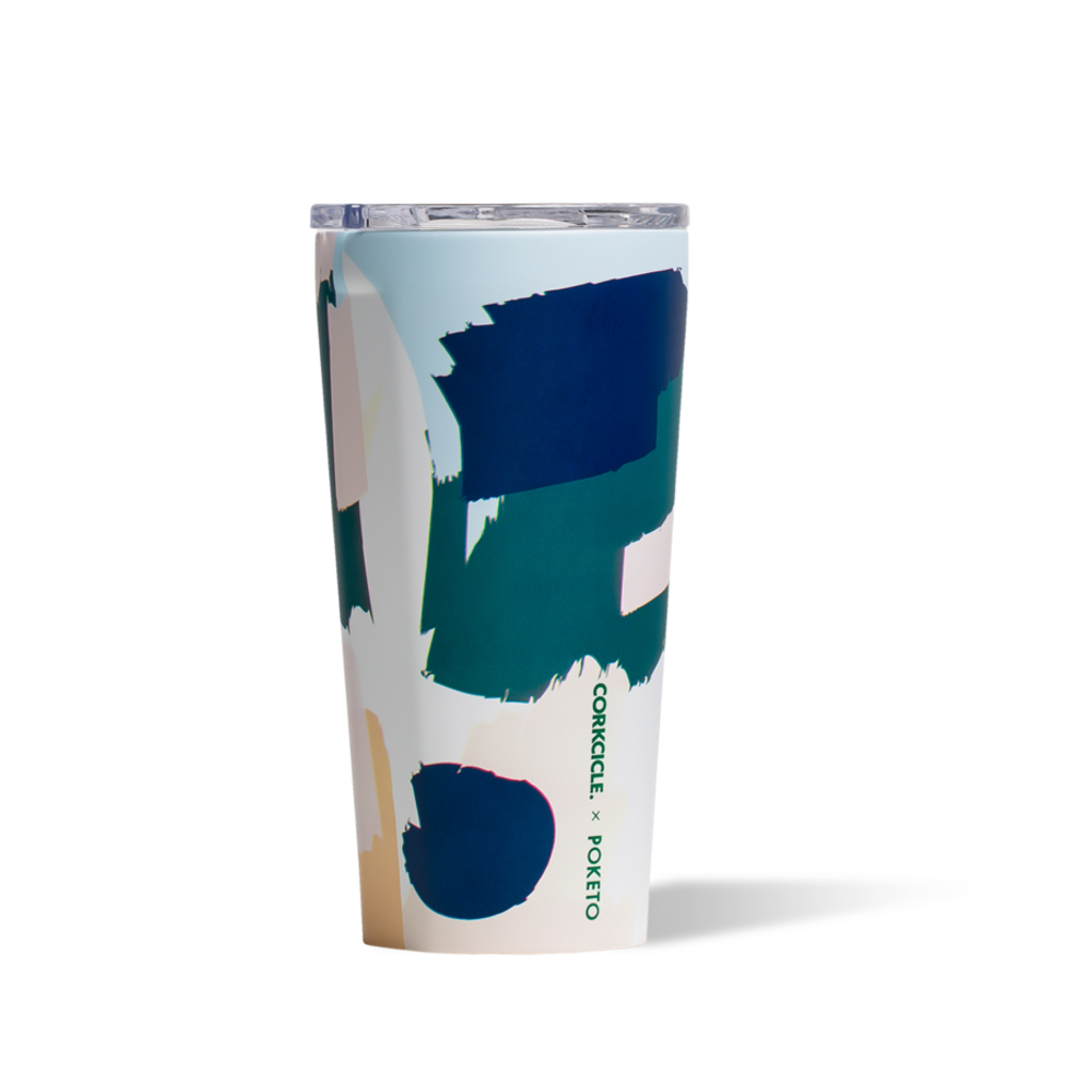 Corkcicle Tumbler - Poketo White Brush Stroke - 16oz. Corkcicle Tumblers