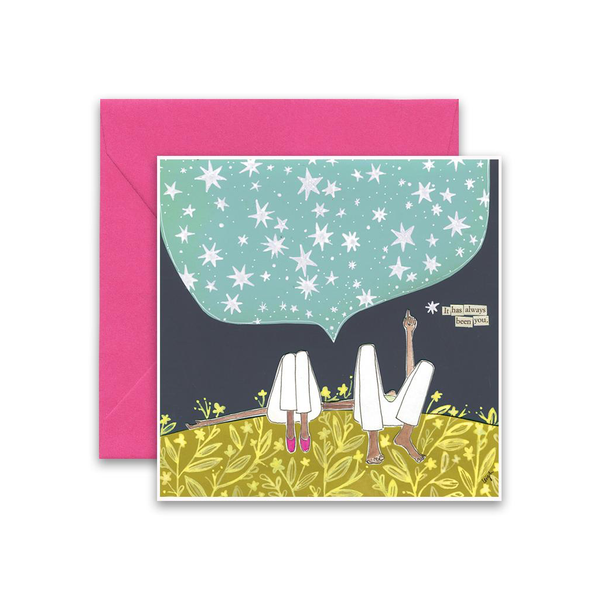It Has Always Been You Card Curly Girl Card - Love