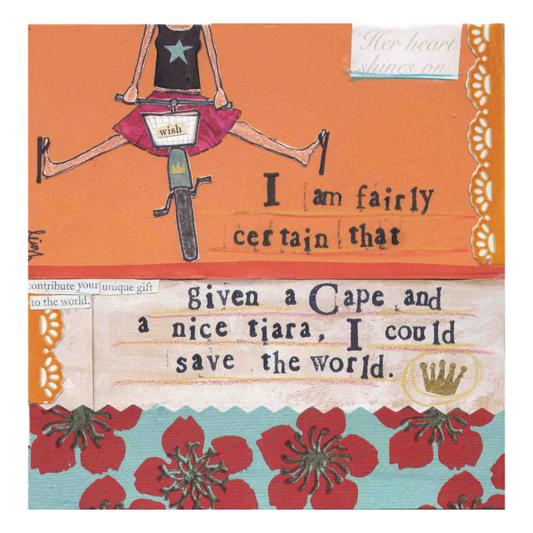 Cape and Tiara Card by Curly Girl Design Curly Girl Design Greeting Cards