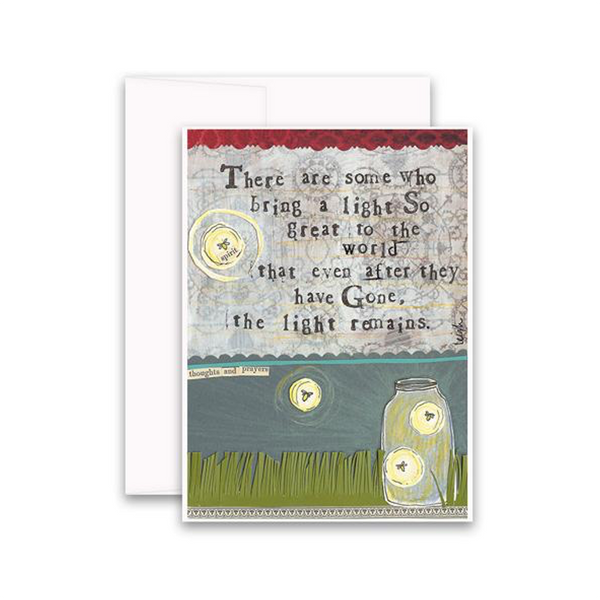 The Light Remains Sympathy Card Curly Girl Design Greeting Cards