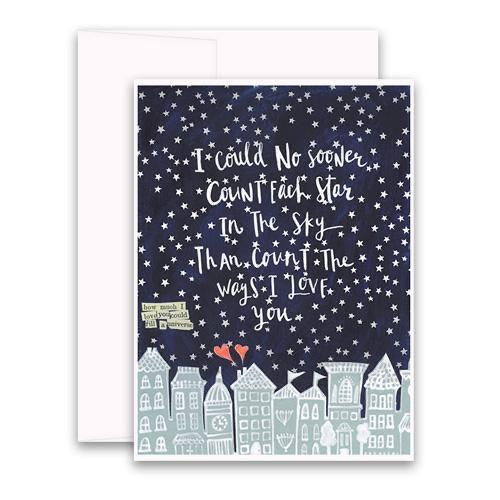 Count All of the Stars Card Curly Girl Greeting Cards
