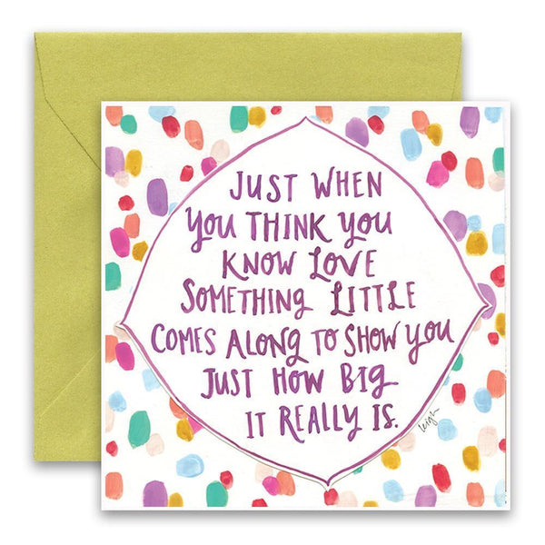 Know Love Card Curly Girl Greeting Cards