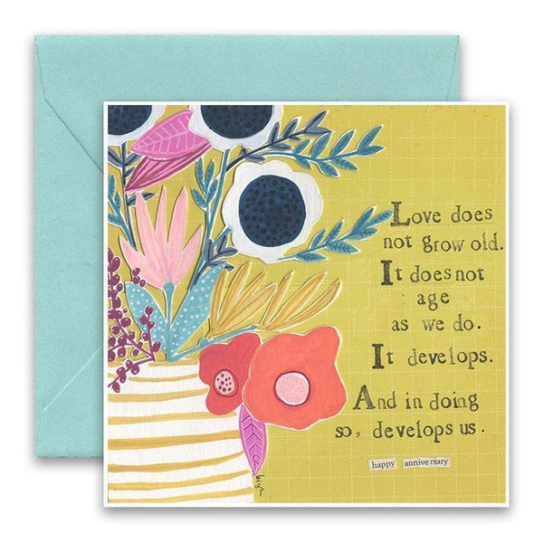 Love Does Not Grow Old Anniversary Card Curly Girl Greeting Cards