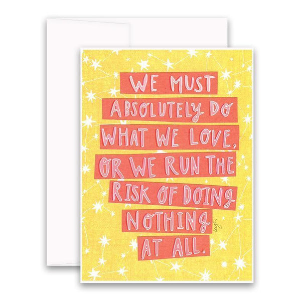 Risk of Doing Nothing Card Curly Girl Greeting Cards