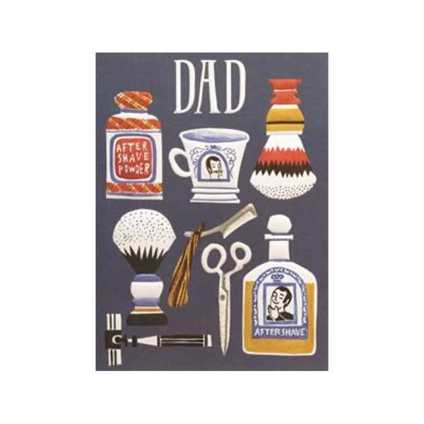 Dad Shaving Items Father's Day Card Design Design Card - Father's Day