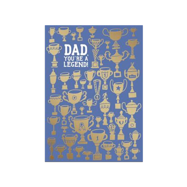 Dad You're A Legend Father's Day Card Design Design Card - Father's Day