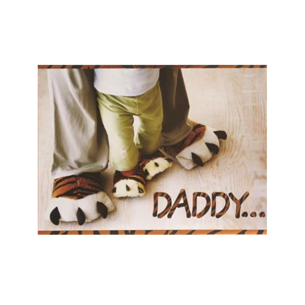 Daddy Tiger Slippers Father's Day Card Design Design Card - Father's Day