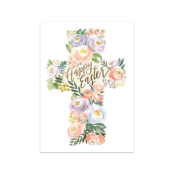 Amazing Grace Floral Cross Easter Card Design Design Cards - Easter