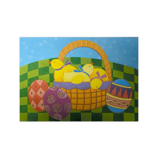 Easter Chicks Basket Easter Card Design Design Cards - Easter
