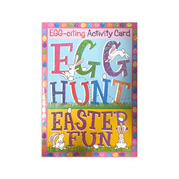 EGG-citing Activity Easter Card Design Design Cards - Easter