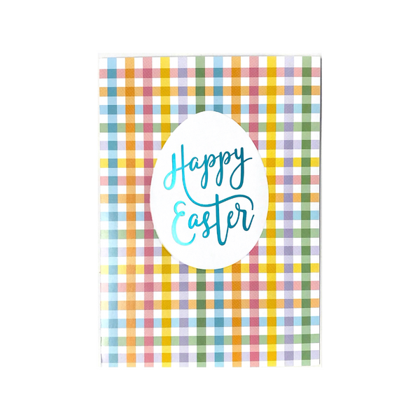 Pastel Plaid Happy Easter Card Design Design Cards - Easter