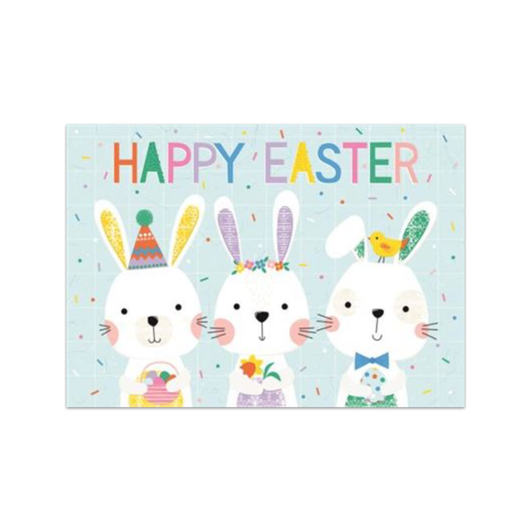 Three Bunnies In A Row Easter Card Design Design Cards - Easter