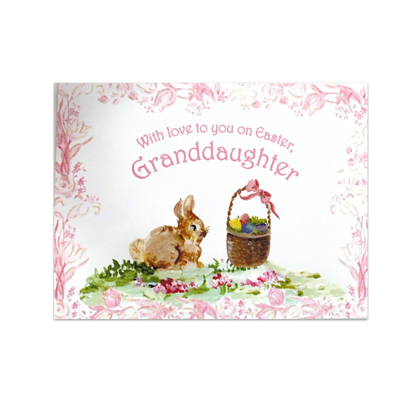 With Love To You Granddaughter Easter Card Design Design Cards - Easter