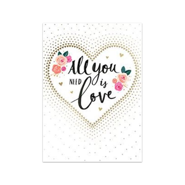 All You Need Is Love Valentine's Day Card Design Design Cards - Valentine's Day