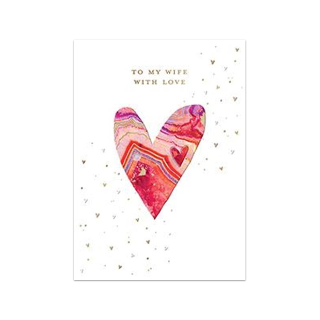 Geode Heart Wife Valentine's Day Card Design Design Cards - Valentine's Day