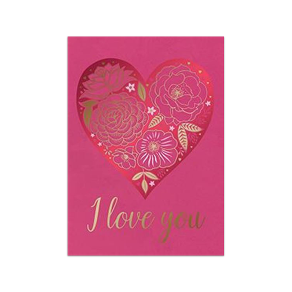 I Love You Rose Heart Valentine's Day Card Design Design Cards - Valentine's Day