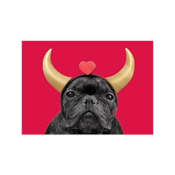 Love Devil Pug Valentine's Card Design Design Cards - Valentine's Day
