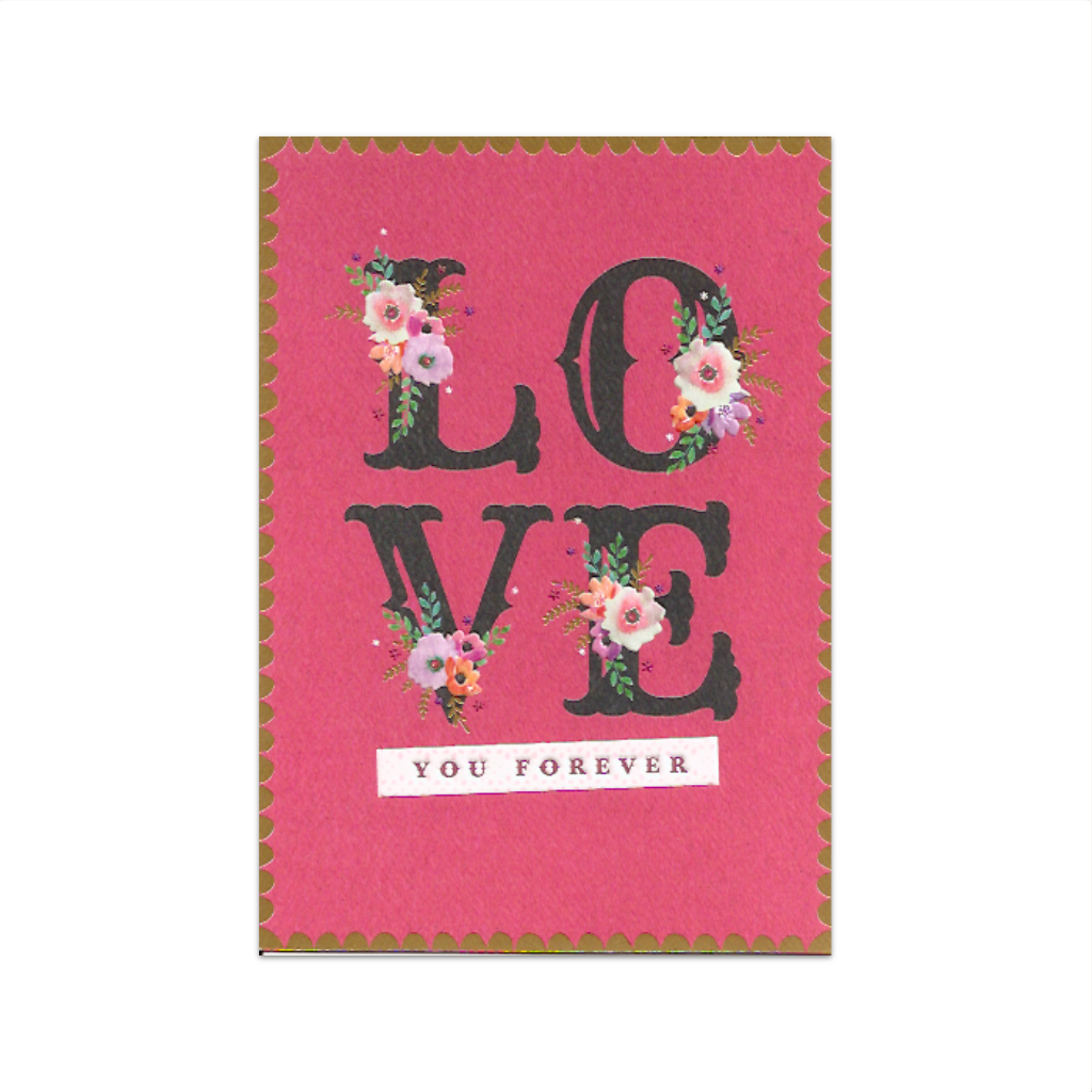 Love You Forever Valentine's Day Card Design Design Cards - Valentine's Day