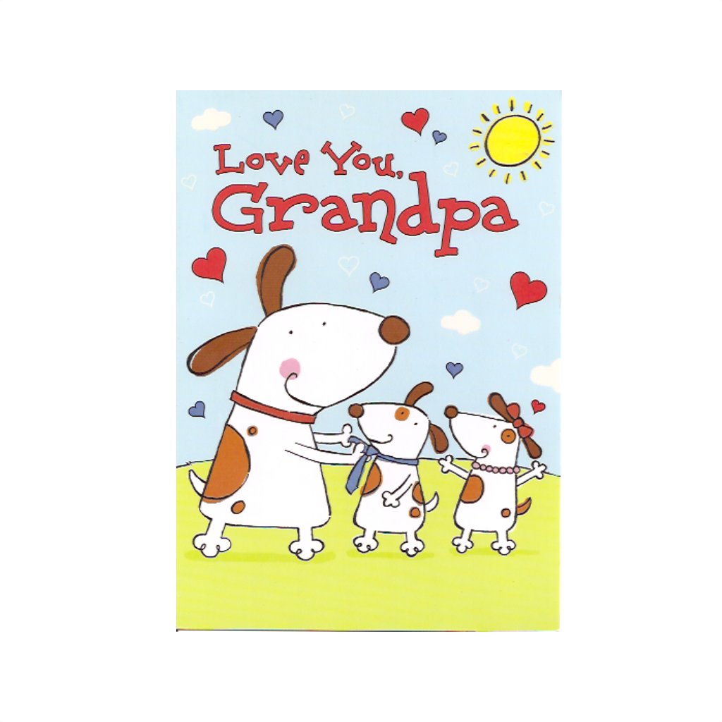 Love You Grandpa Valentine's Card Design Design Cards - Valentine's Day