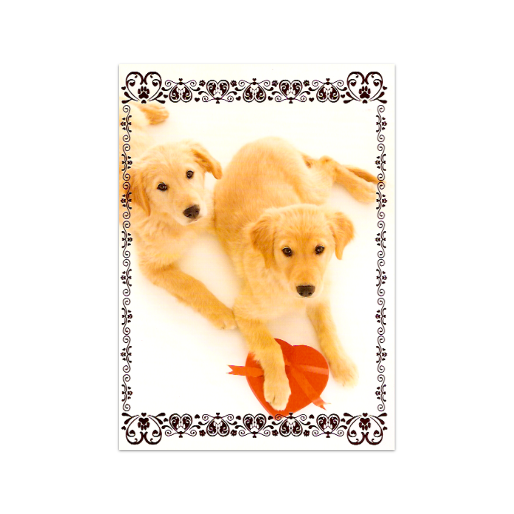 Pair of Dogs Valentine's Day Card Design Design Cards - Valentine's Day