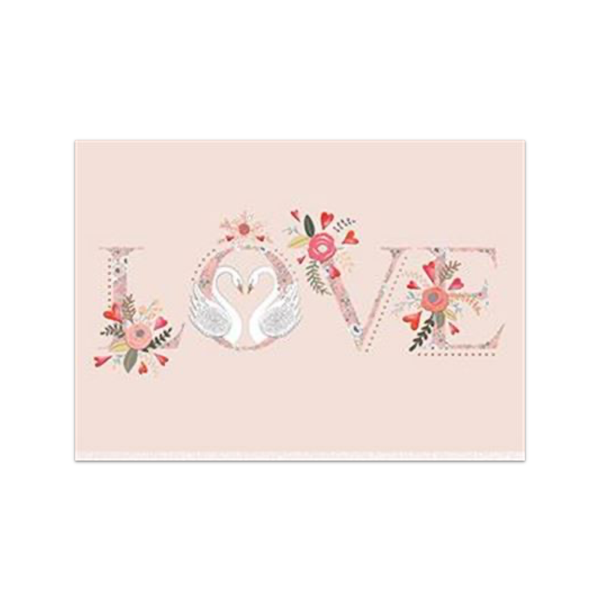 Swans in Love Valentine's Day Card Design Design Cards - Valentine's Day