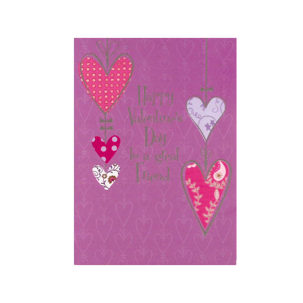 To A Great Friend Valentine's Day Card Design Design Cards - Valentine's Day
