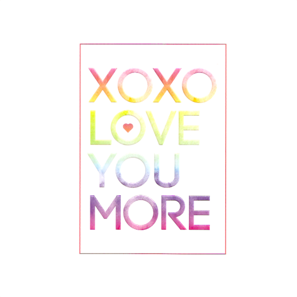 XOXO Love You More Valentine's Day Card Design Design Cards - Valentine's Day