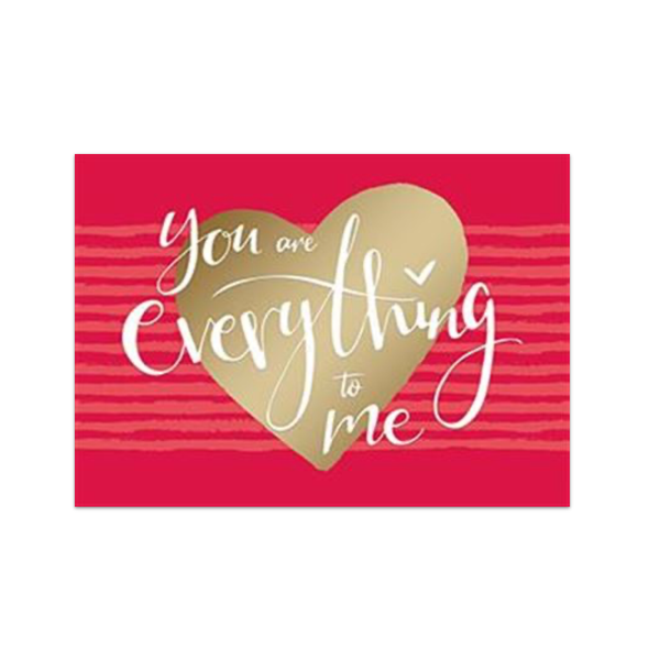 You Are Everything To Me Valentine's Day Card Design Design Cards - Valentine's Day